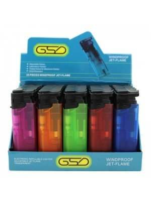 Wholesale GSD Electronic Refillable Lighters - Semi-transparent