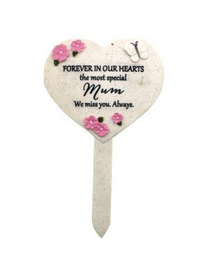 Memorial Heart Shaped Stake - Mum