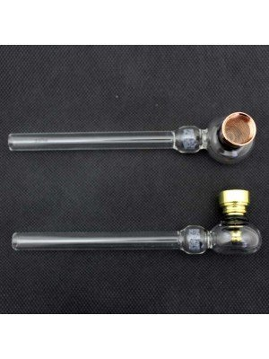 Wholesale PUFF Glass Smoking Pipe with Internal Filter - 6 inch