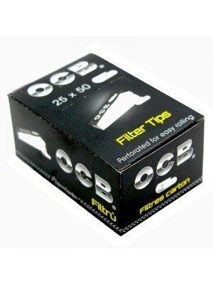 Wholesale OCB Premium Black Perforated Roach Filter Tips