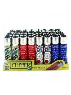 Wholesale Clipper Flint REUSABLE Lighters - London