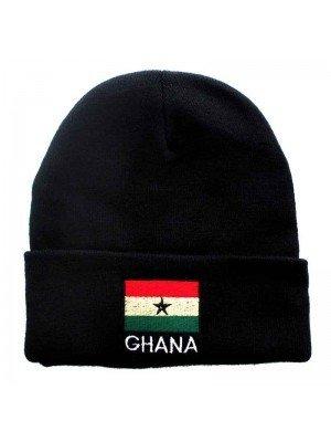 Unisex Knitted Ghana Beanie Hat