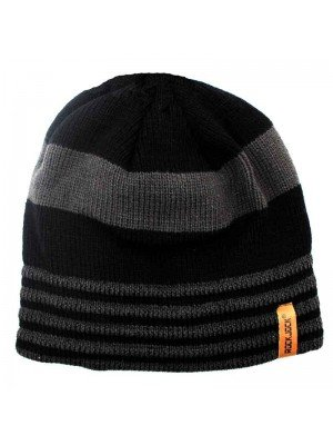 Wholesale RockJock Men's 2 Tone Striped Knitted Thermal Insulated Hat