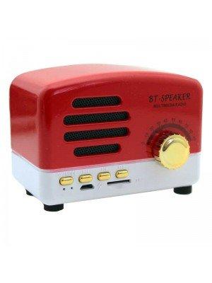 Wholesale Bluetooth Multimedia Radio Speaker - Red