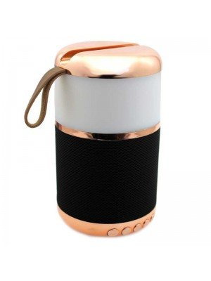 Wholesale Portable Bluetooth Speaker with Light - Black/Rose Gold