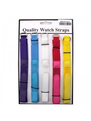 Wholesale Allure Girls Colour Velcro Watch Straps - Assorted Colours - 14mm