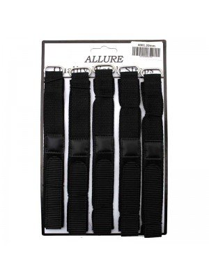 Wholesale Allure Black Velcro Watch Straps - 20mm
