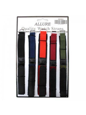 Allure Boys Colour Velcro Watch Straps - Assorted