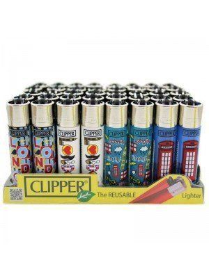 Wholesale Clipper Flint REUSABLE Lighters - London 11