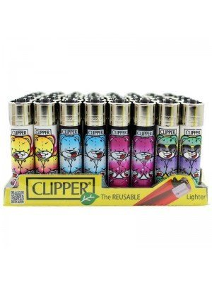 Wholesale Clipper Flint REUSABLE Lighters - Badass Bear
