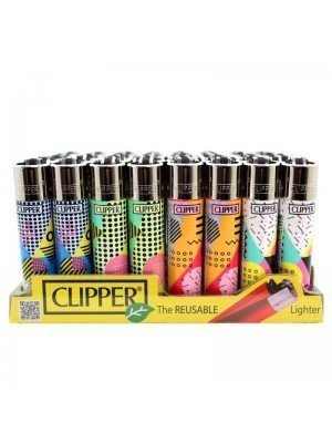 Wholesale Clipper Flint REUSABLE Lighters - No Stress