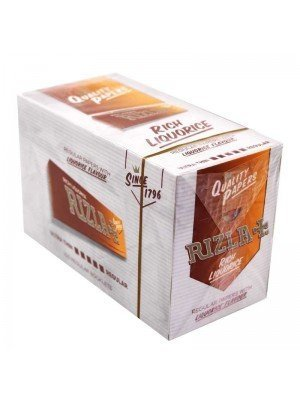 Rizla Liquorice Regular Paper - Orange 100 Booklets