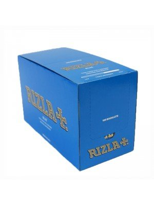 Rizla Blue Regular Rolling Papers Standard Size Box Of 100 Booklets