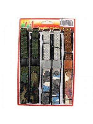 Wholesale Allure Military Camo Style Velcro Watch Straps - 14mm