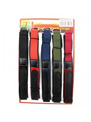 Wholesale Allure Assorted Colours Velcro Watch Straps - 18mm