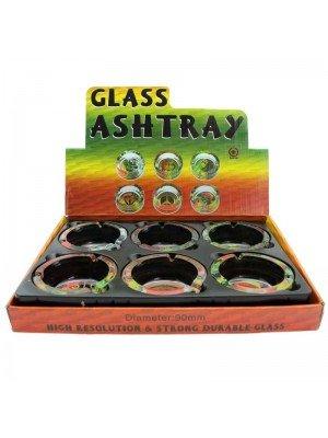 Wholesale Glass Round Ashtrays - Rasta Designs