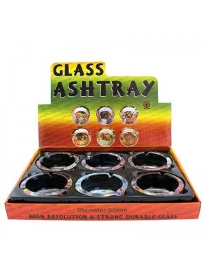 Wholesale Glass Round Ashtrays - Playing Cards Designs