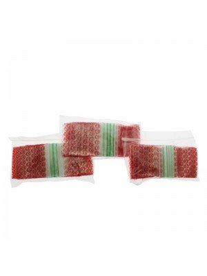 Grip Sealed Printed Baggies - Red Smiley (2x2)