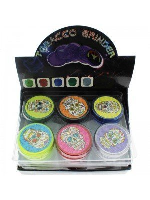 3-Part Plastic Tobacco Grinder - Assorted Designs