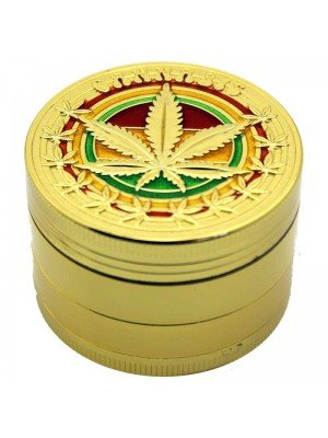 Wholesale 4-Part Metal Grinder Cannabis - Gold