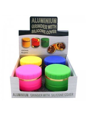 Wholesale 4-Part Metal Grinder with Silicone Cover