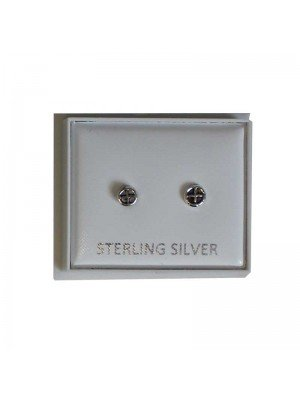 Sterling Silver Sun Cross Studs - Approx 3mm