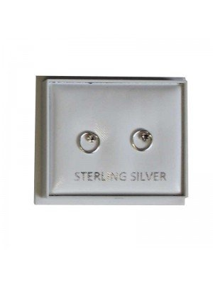 Sterling Silver Stone Studs - Approx 6mm
