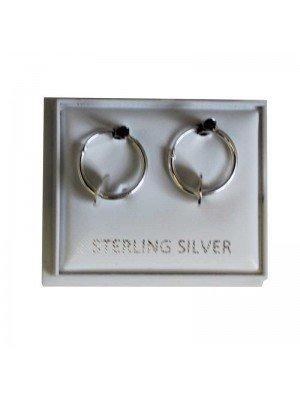 Sterling Silver Hoop Earrings - approx 12mm