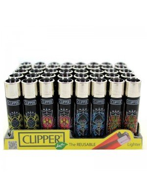 Clipper Flint REUSABLE Lighters - Arachnophobia