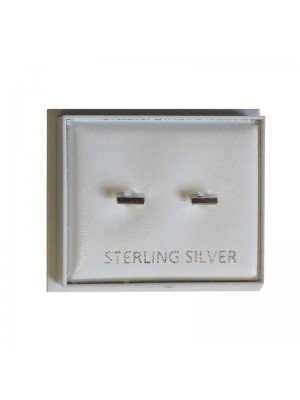 Sterling Silver Bar Studs - Approx 5mm