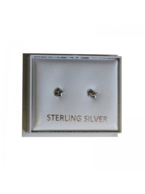 Sterling Silver Star Studs - Approx 3mm