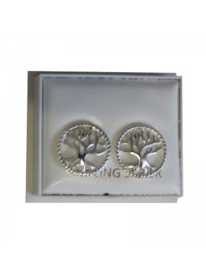 Sterling Silver Tree of Life Studs - Approx 13mm