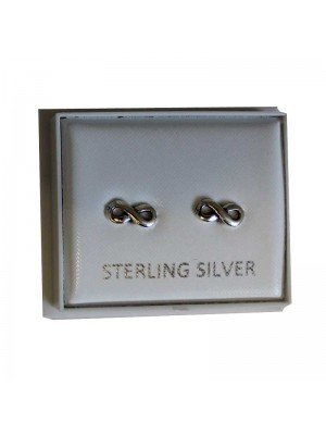 Sterling Silver Infinity Studs - Approx 8mm