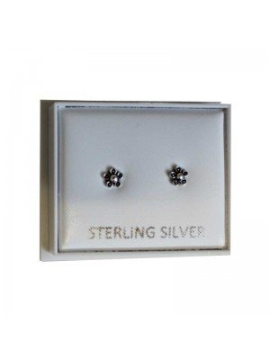 Sterling Silver Flower Studs - Approx 4mm