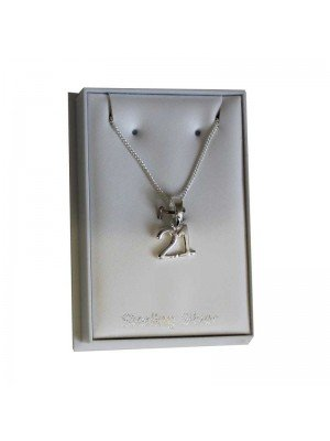 Sterling Silver 21 Necklace