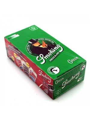 Wholesale Smoking Green Cut Corners Rolling Paper Regular Size