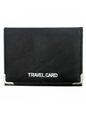 Wholesale Genuine Leather Travel Card Holder with 3 Slots - Assorted Colours
