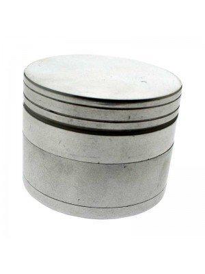 4-Part Metal Grinder - Metallic Silver (d:5cm x h:4cm)
