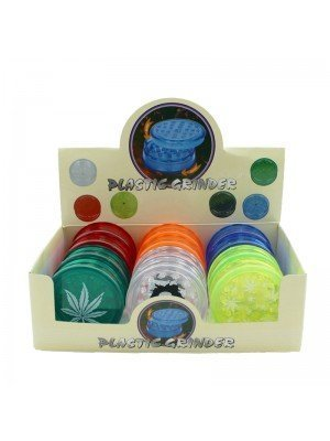 Wholesale 3-part Plastic Grinder - Assorted designs