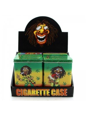 Wholesale Rasta Metal Cigarette Cases - Assorted designs.