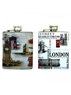 Wholesale Hip Flask - London Designs - 4oz