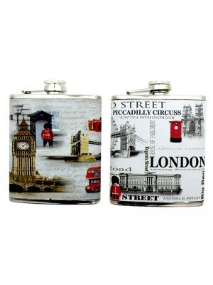 Wholesale Hip Flask - London Designs - 6oz