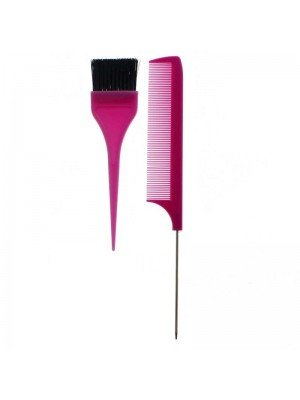 Pretty Tail Comb & Tinting Brush - Pink