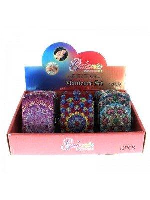 Galante Manicure Set (Flower Patterns Design Assorted)- 12 pieces