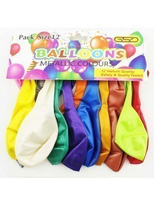 Wholesale Party Balloons - Assorted Metallic Colours