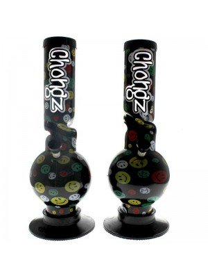 """Chongz Acrylic Bong """"Stone and Dethrone"""" - Assorted designs - 12 inch"""