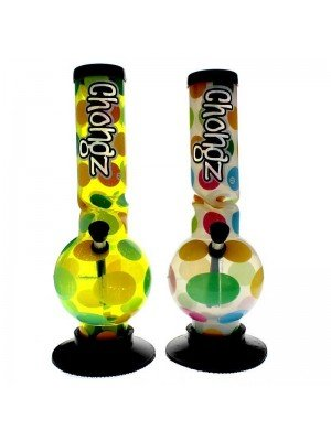 """Chongz Acrylic Bong """"Miserable Lie"""" - Assorted designs - 12 inch"""