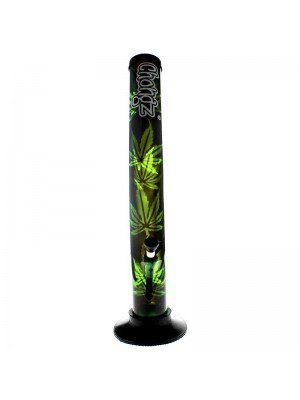 "Chongz Acrylic Bong ""Leaf Design"" - Assorted designs - 16 inch"