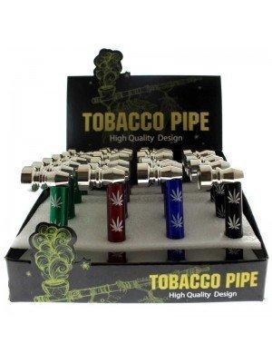 "Metal Tobacco Pipe Leaf Design ""Assorted Designs"" - Appox 8cm"