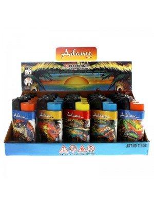 Adamo Refillable Lighters (Islands Theme) - Assorted Designs